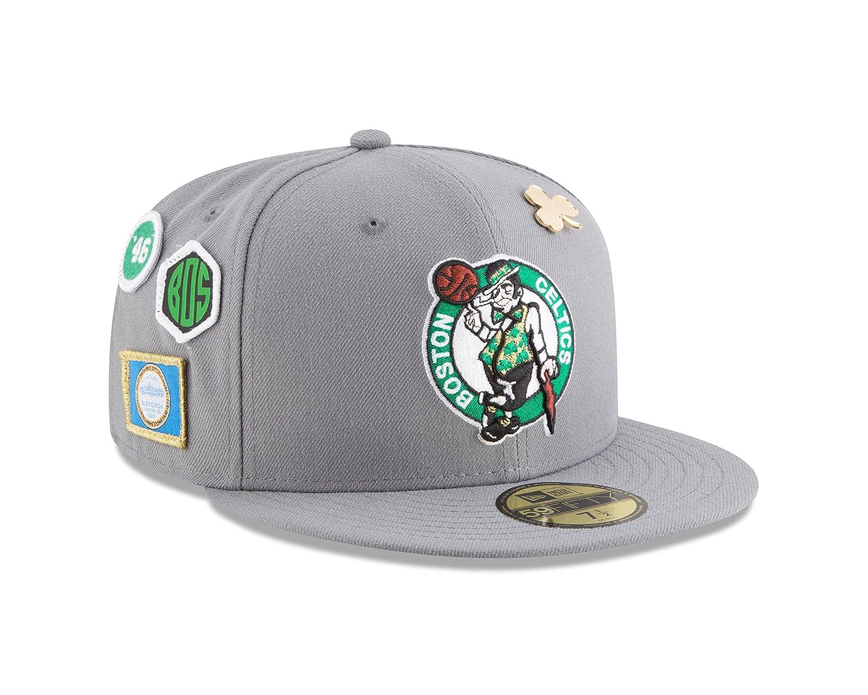 e9d8558b40b Amazon.com   New Era Boston Celtics 2018 NBA Draft Cap 59Fifty Fitted Hat -  Gray   Sports   Outdoors