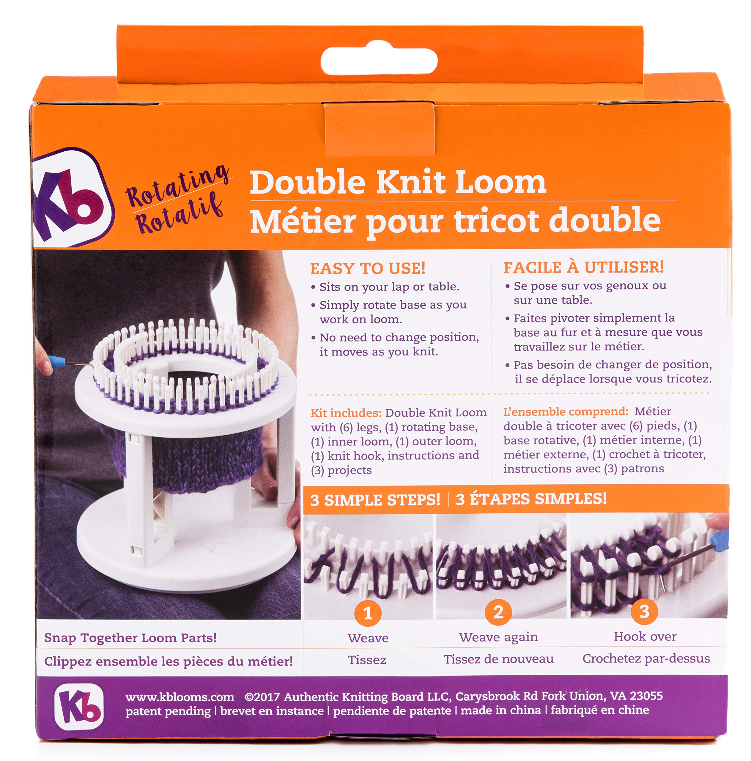 Authentic Knitting Board Rotating Double Knit Loom, Off Off White by Authentic Knitting Board (Image #2)