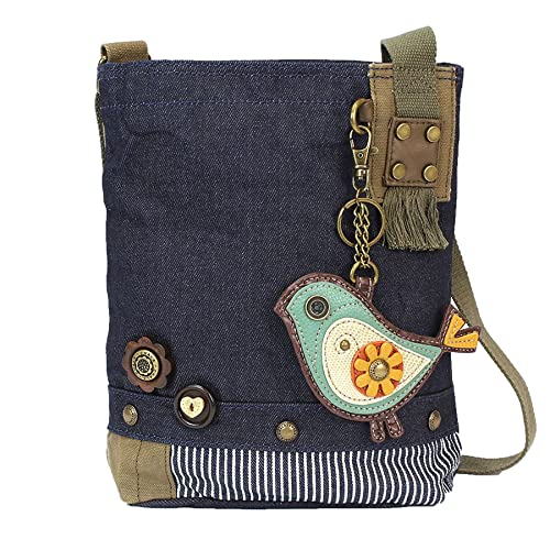 081ccecc8 Chala Purse Handbag Denim Canvas Crossbody With Key Chain Tote Baby Biddle  Bird