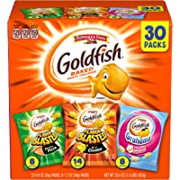 Pepperidge Farm Goldfish Crackers, Bold Mix Variety Pack Box, 30-count Snack Packs