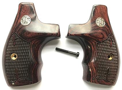 Amazon.com : Gun Grip Supply Smith & Wesson S&W J Frame Grips Round ...