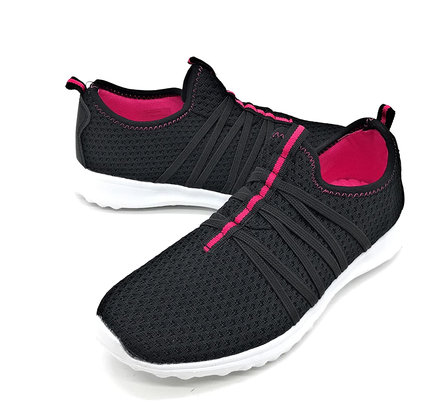 Blue Berry EASY21 Women Casual Fashion Sneakers Breathable Athletic Sports Light Weight Shoes B079VQQHK3 6 B(M) US|Black01