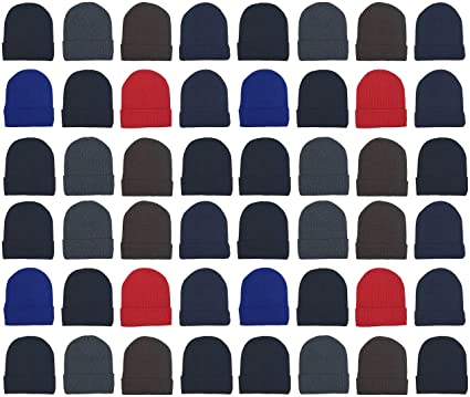 714be7f215492 48 Pack Winter Beanies