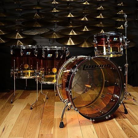 Ludwig Vistalite 13/16/18/24 4pc Kit Tequila Sunrise acrílico: Amazon.es: Instrumentos musicales
