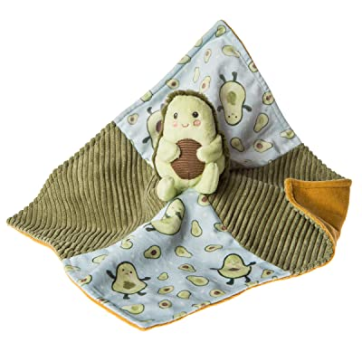 Mary Meyer Stuffed Animal Security Blanket, 13 x 13-Inches, Yummy Avocado: Baby