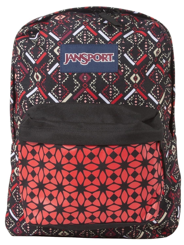 32d11f4eb17a JanSport T501 Superbreak Backpack - Coral Dusk Tribal Mosiac