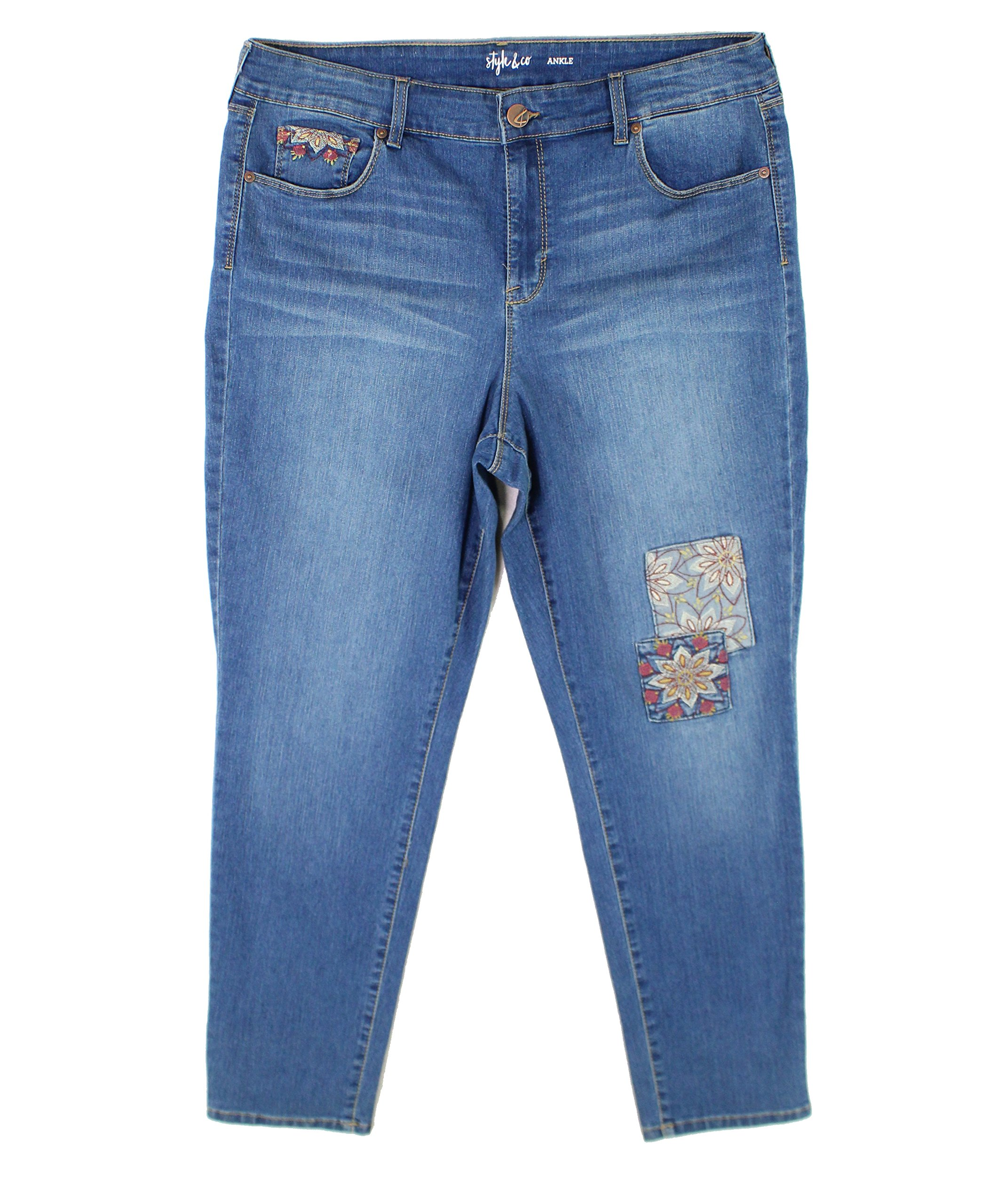 Style & Co.. Embroidered Skinny Jeans (Sunnyvale, 16)