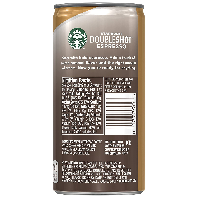 Starbucks Doubleshot Espresso Salted Caramel 6 5 Fl Oz Cans 12 Pack