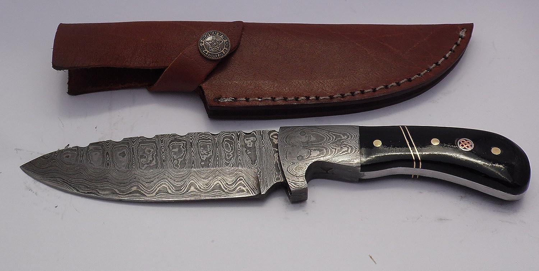Cuchillo Artesanal 21,5 cm Empuñadura collar en Acero ...