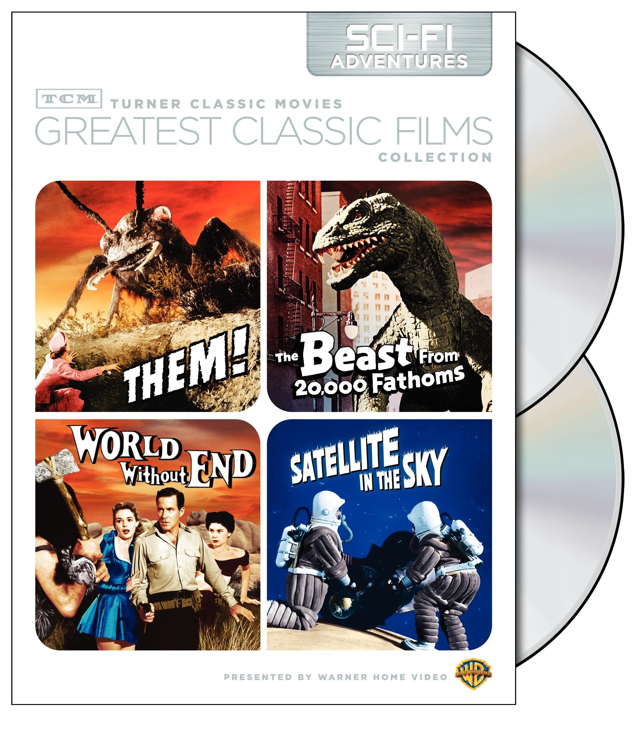 TCM Greatest Classic Films Collection: Sci-Fi Adventures (Them! / The Beast from 20,000 Fathoms / World Without End / Satellite in the Sky) by Warner Home Video