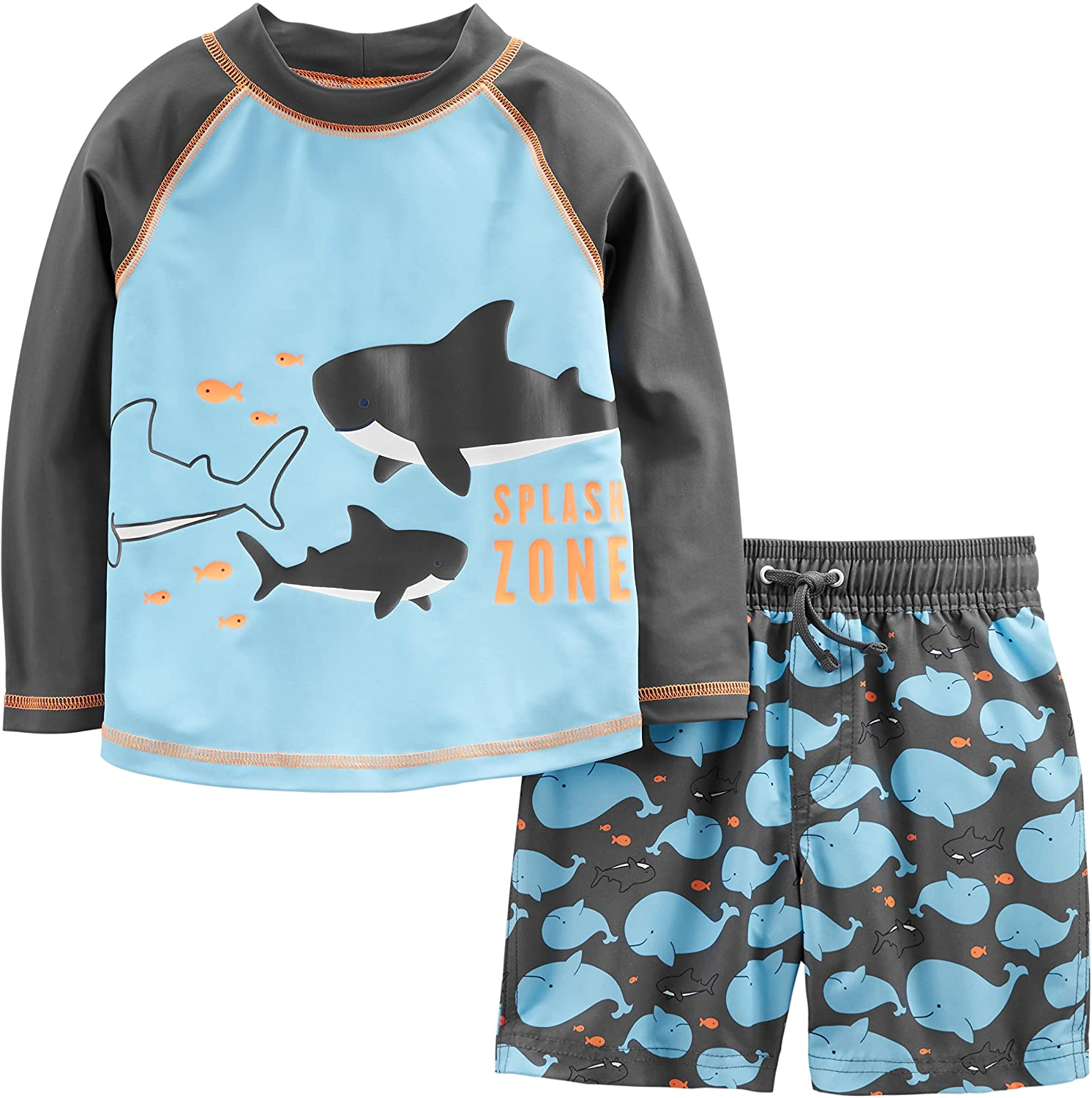 Simple Joys by Carter's Boys' 2-Piece Swimsuit Trunk and Rashguard