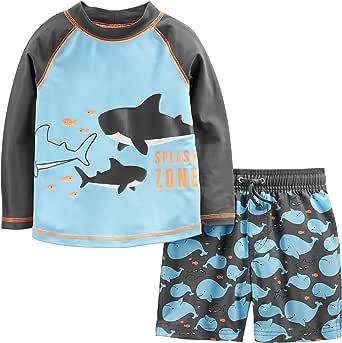 Simple Joys by Carter's Niños conjunto de natación, Pack de 2