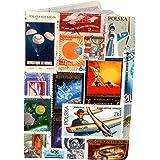 11:11 Enterprises - Porta pasaportes estampado con sellos del mundo