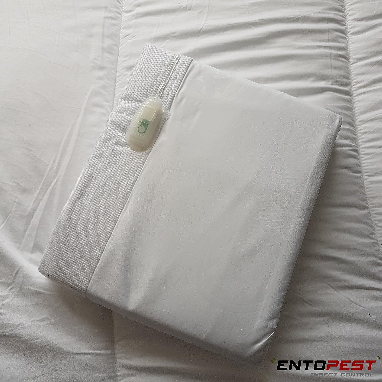 Entopest Prot/ège-matelas Allerg/ène blanc Tissu Punaises de Lit et Acariens avec Tissu Micronone/® et Syst/ème de fermeture Zip-n-clickTM King