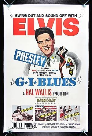 c47e34dfff83e G.I. BLUES * CineMasterpieces 1960 ELVIS PRESLEY ORIGINAL MOVIE ...