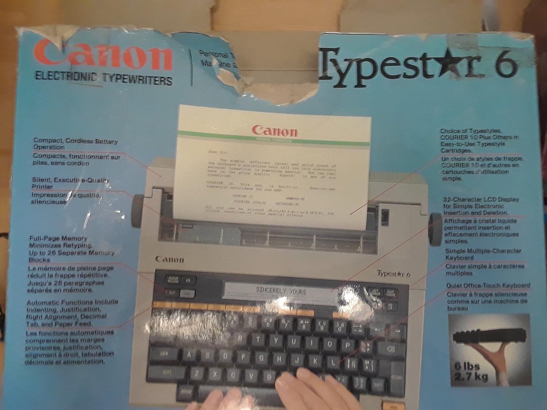 Amazon.com : Canon Typestar 6 Portable Typewriter : Electronic Typewriters : Electronics