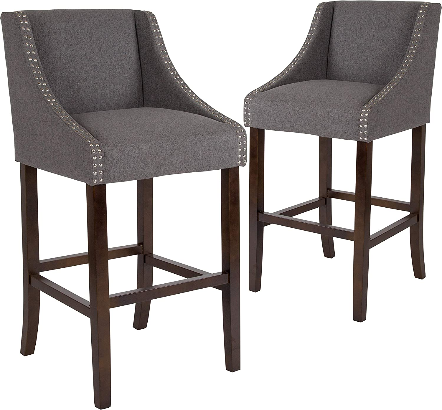 Christopher Knight Home 304583 Truda Mid Century Modern Fabric Barstools Set of 2 in Light Beige,