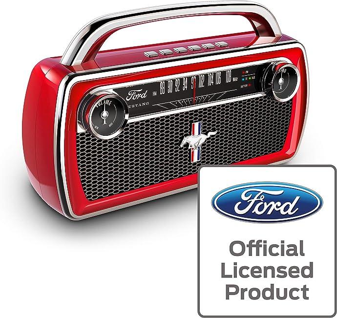 ION Audio x Ford 联名款 Mustang 野马 复古蓝牙音箱 带收音机 6.1折$53.96 海淘转运到手约¥522