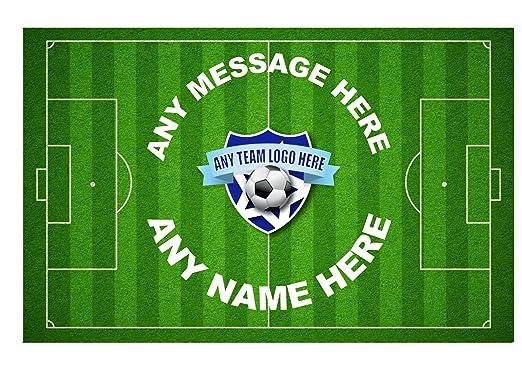 Diseño de campo de fútbol personalizable cuadrícula decoración ...