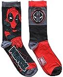 Marvel Deadpool 2 Pack Casual Crew Socks 6-12