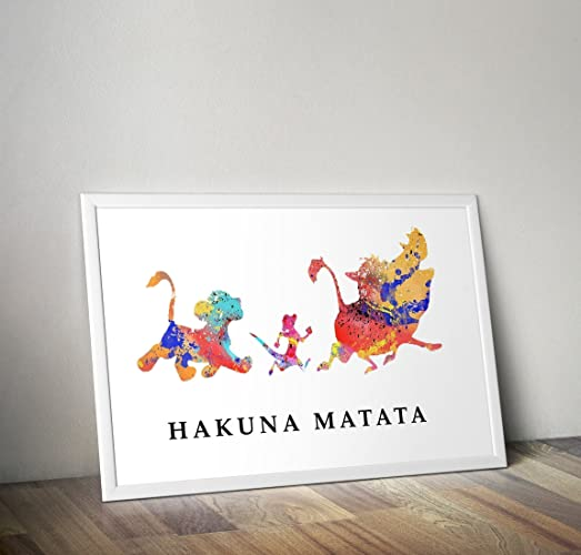 Lion King Inspired Watercolour Poster - Simba - Quote - Alternative ...