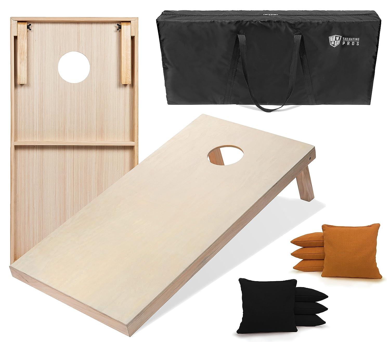 Tailgating Pros & 4 ' ' x2 ' & 3 ' Boards x2 ' CornholeボードW/Carrying Case &のセット8 Cornhole Bags (You Pickカラー)25バッグカラー。 B076TNJ1DV 4'x2' Boards|ブラック/ゴールド ブラック/ゴールド 4'x2' Boards, セイコー時計専門店 スリーエス:933430c4 --- kapapa.site