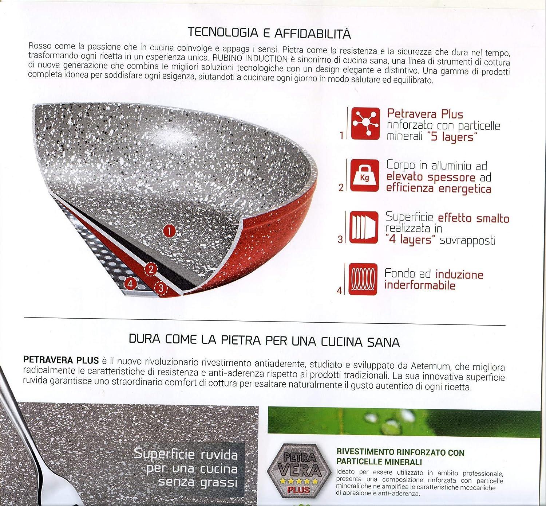 Petra Dura Come La Pietra.Amazon Com Bialetti Y0c8sp0280 Madame Rubino Induction Universal