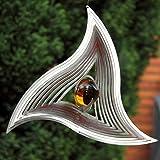 """Windspiel """"TRIANGLE MOBILE"""" aus Edelstahl mit 35 mm Glaskugel -Farben nach Wunsch-absolut Wetterfest-"""