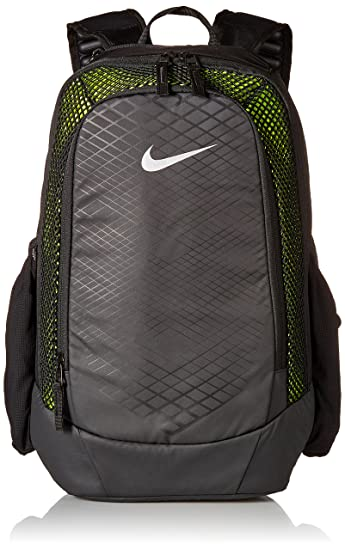Nike 25 Ltrs Black Volt Metallic Silver School Backpack (BA5474-010 ... 37f04b350fcf