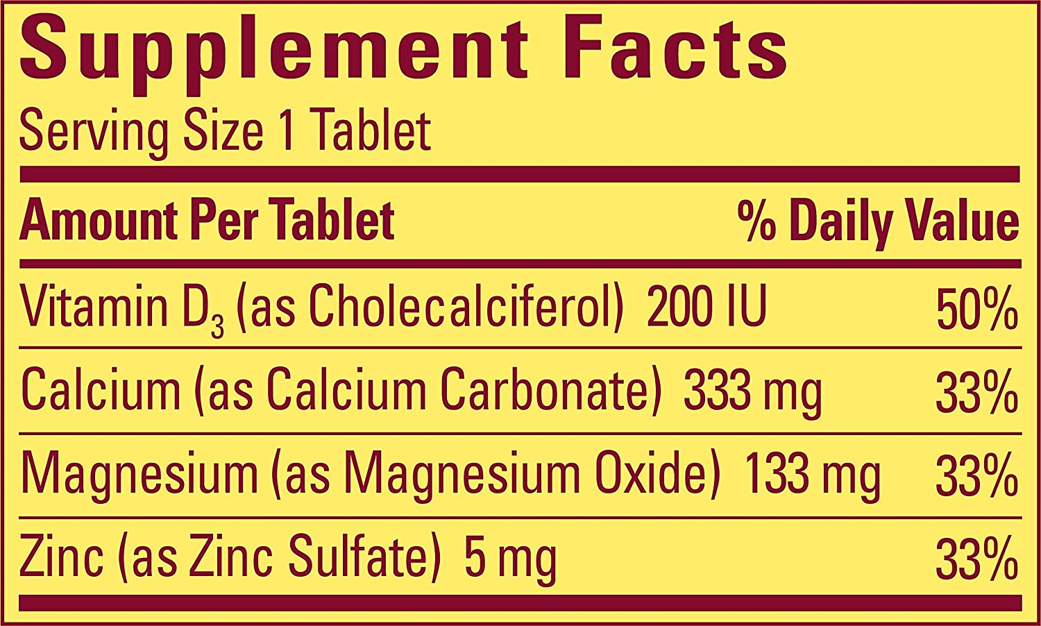 Buy Nature Made Calcium Magnesium Zinc Tablets With Vitamin D 300