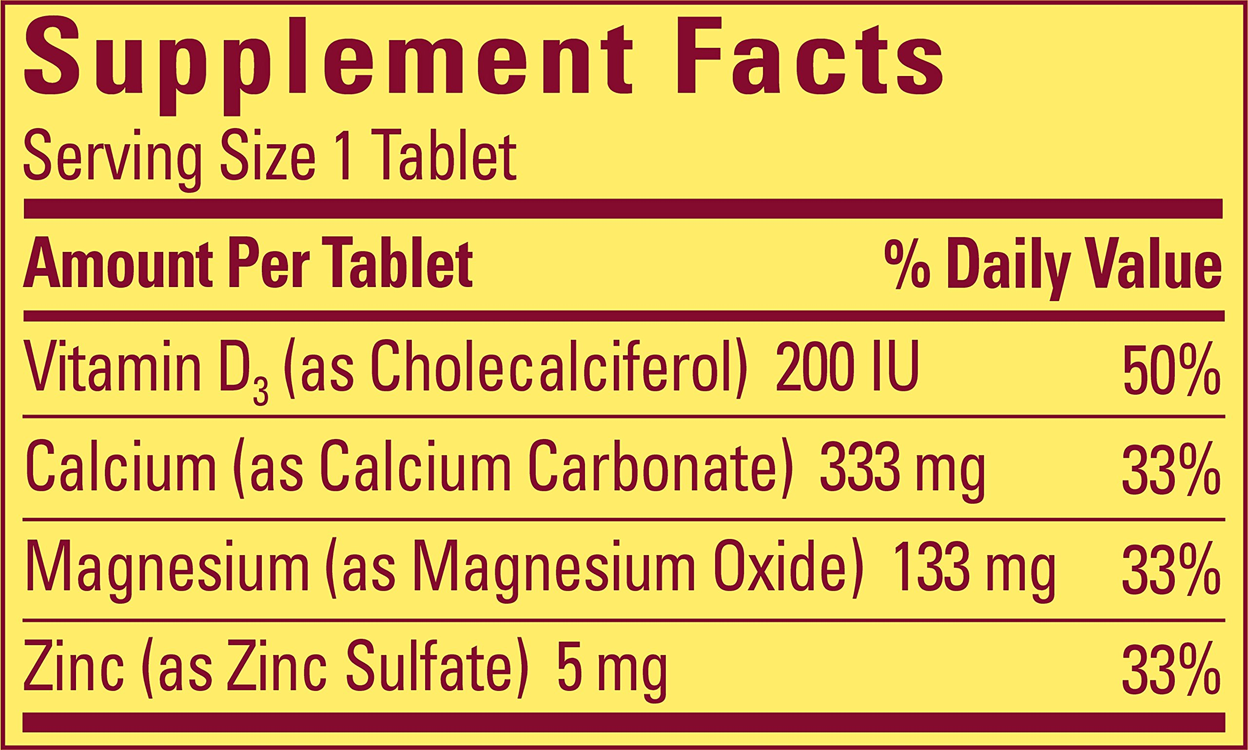 Nature Made Calcium and Magnesium with Zinc and Vitamin D, 300 Softgels (Pack of 3)