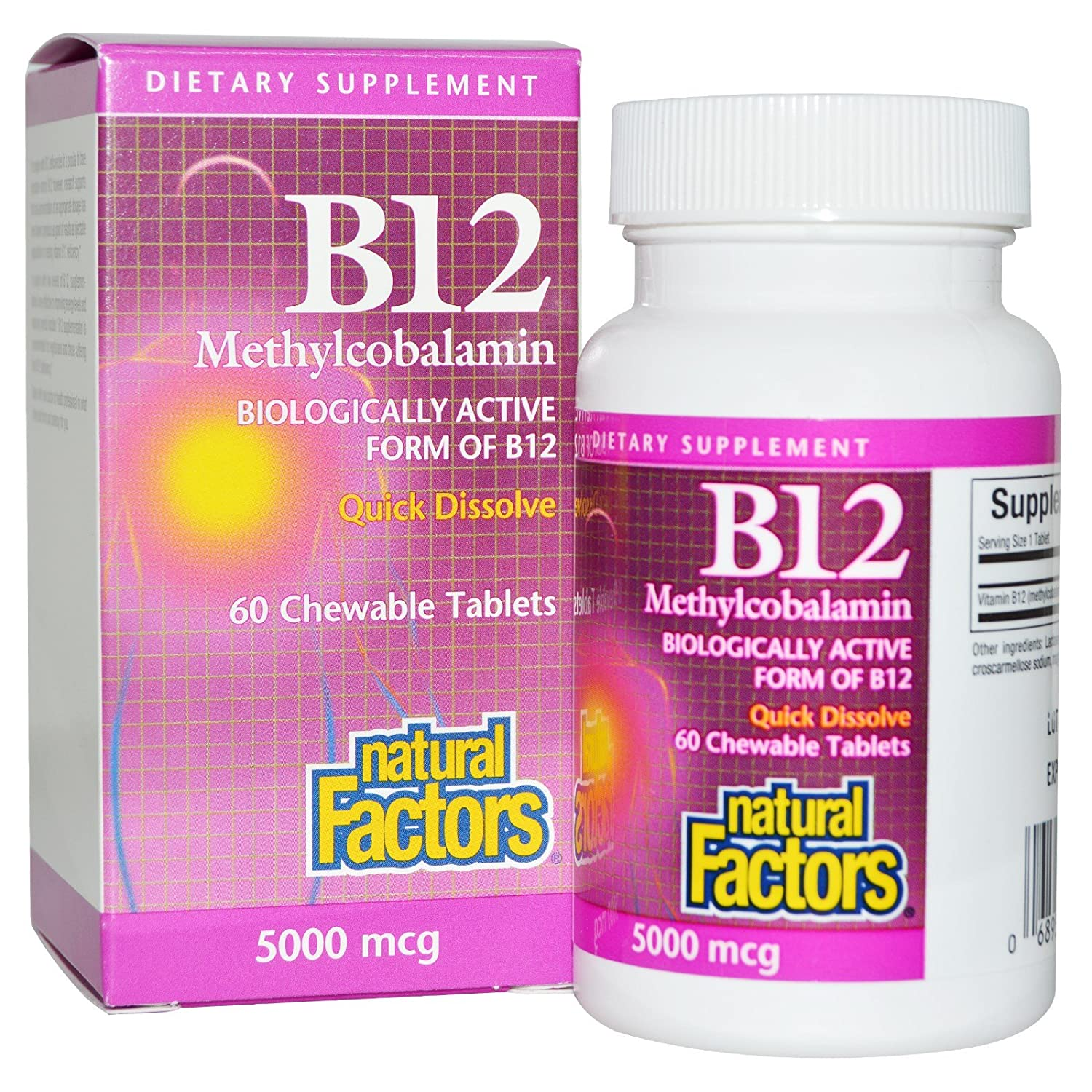 Amazon.com: Natural Factors - B12 Methylcobalamin High Potency ...