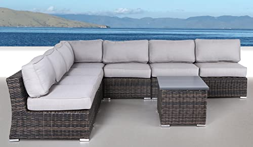 Century Modern Outdoor Marina Collection Patio Furniture Sofa Garden