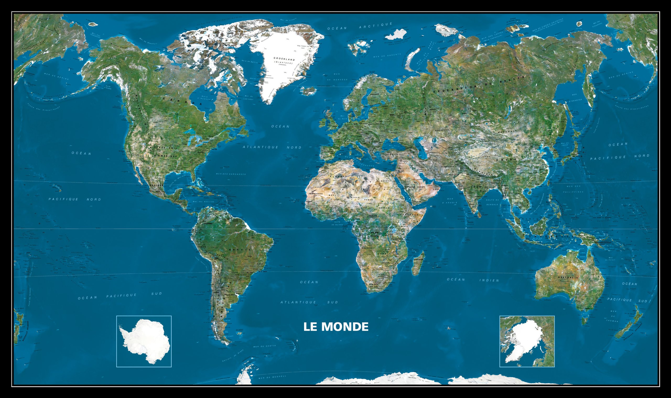 Carte Du Monde Plastifiee.Amazon Fr Carte Plastifie Roule Le Monde Vu De L Espace