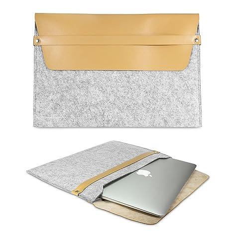 Urcover® Funda Universal Laptop 15 Pulgadas, [Sleeve City] Ordenador Portátil Milán Gris