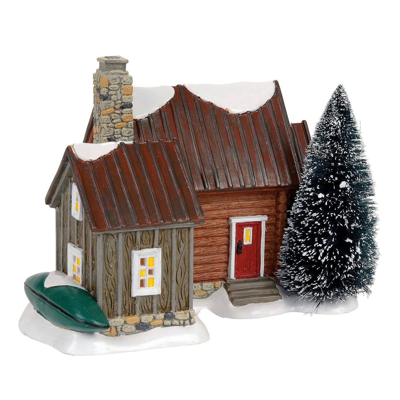 Multicolor Department 56 Snow Woody Retreat Village Lit Building