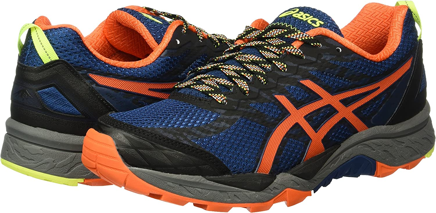 ASICS Gel-Fujitrabuco 5, Zapatillas de Running para Hombre, Azul (Poseidon/Flame Orange/Safety Yellow), 40 EU: Amazon.es: Zapatos y complementos