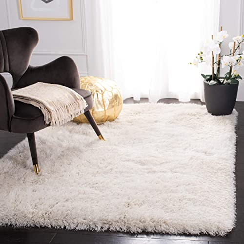Safavieh Venice Shag Collection SG256P Handmade 3-inch Extra Thick Area Rug