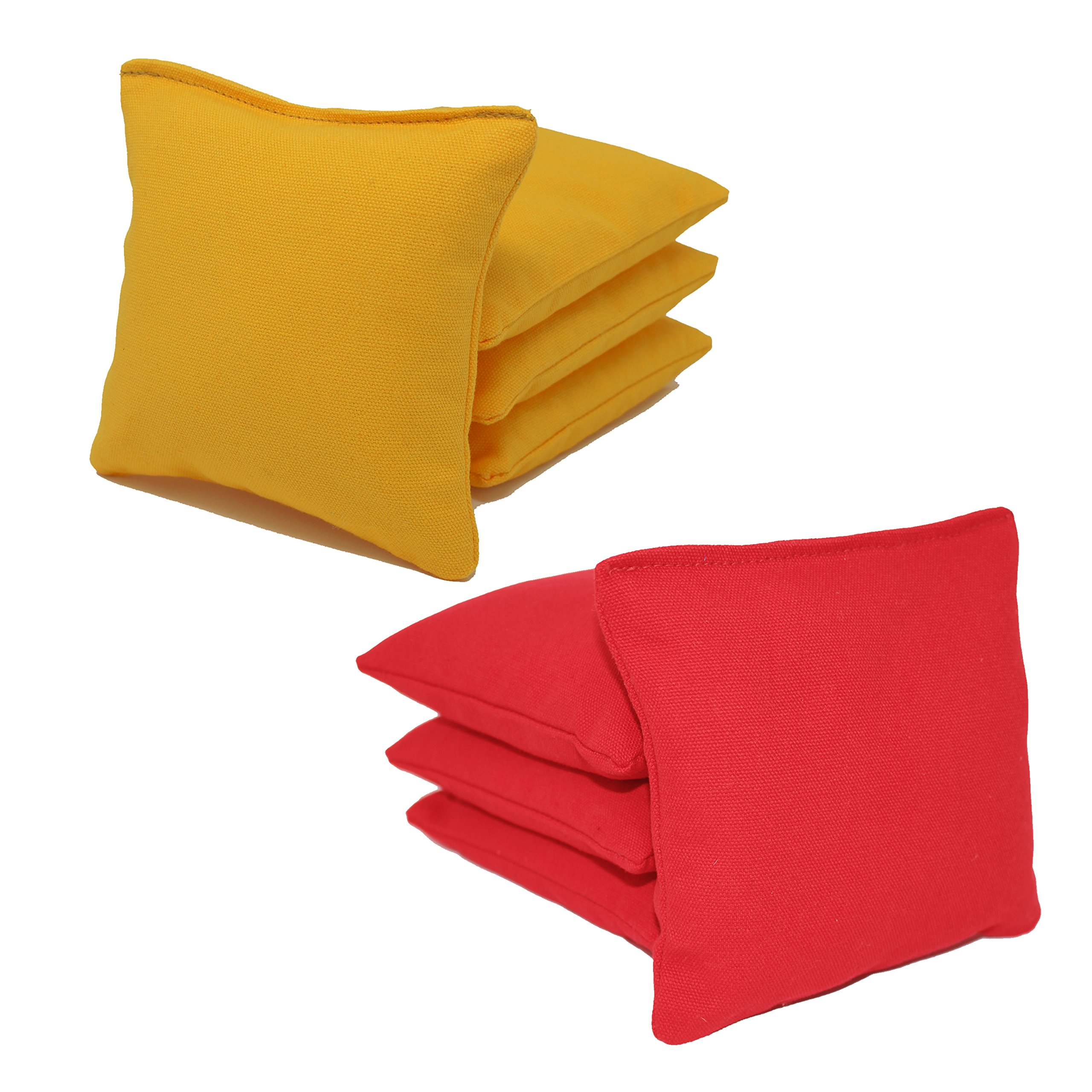Free Donkey Sports ACA Regulation Cornhole Bags (Set of 8) (Red and Yellow) 25 Colors to Choose from. by Free Donkey Sports