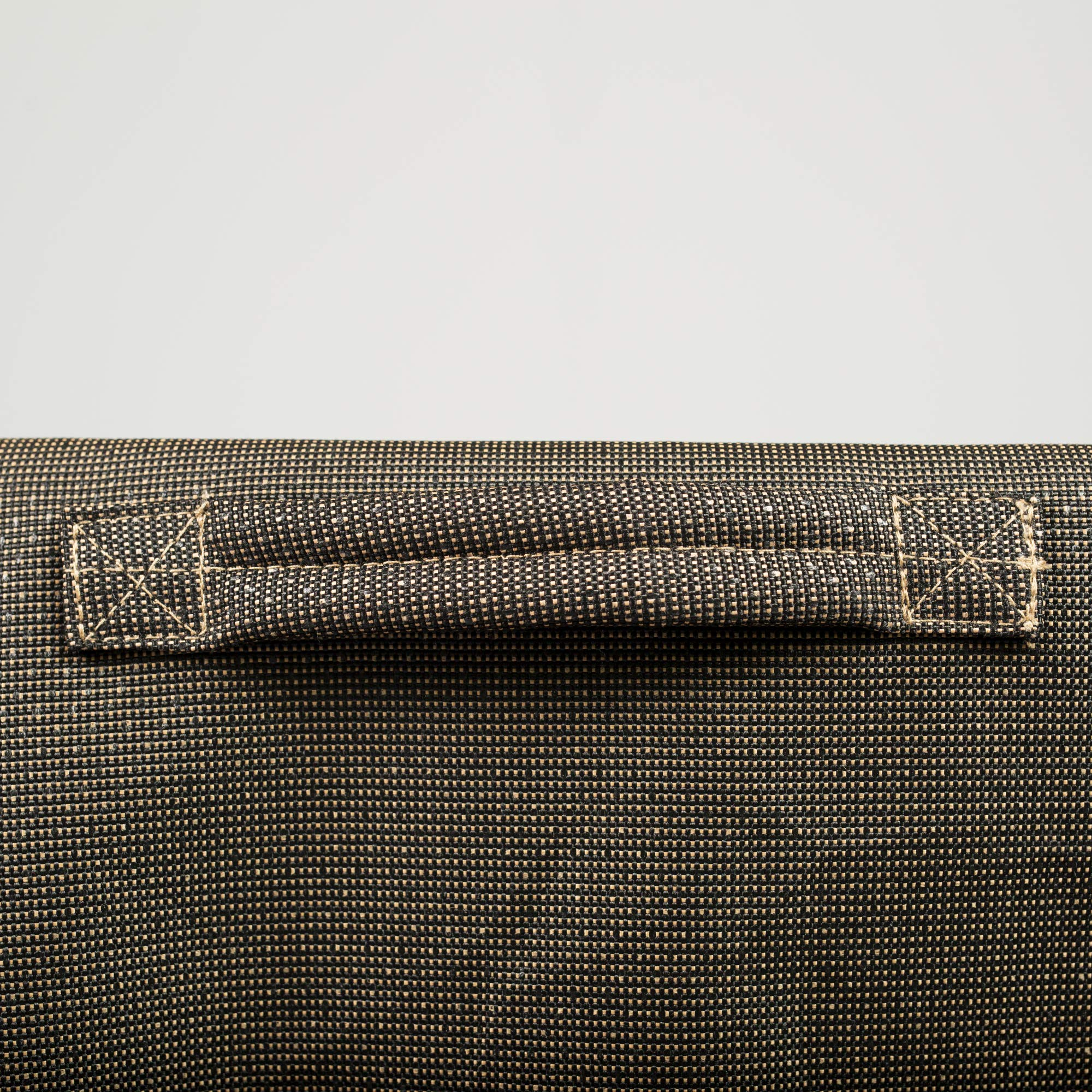 NeverWet Platinum Double Patio Chaise Lounge Cover, (Black and Tan Weave) by EmpireCovers (Image #5)