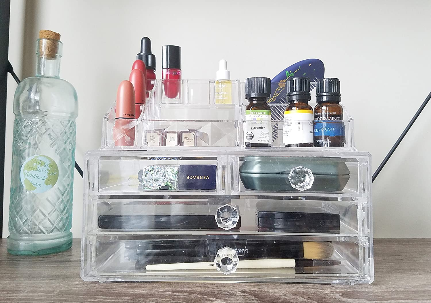 Charming Amazon.com: 2 Piece Cosmetic Makeup Organizer Drawer And Tray Combo U2013 9.4 X  6.1 X 7.2 Inches   Clear Acrylic   By Organizer Solutions: Beauty