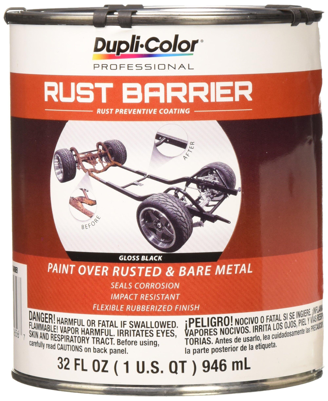 Dupli-Color Flat ERBQ10100 Barrier Rust Preventative Coating, Black, Gloss, 1 Quart, 32. Fluid_Ounces
