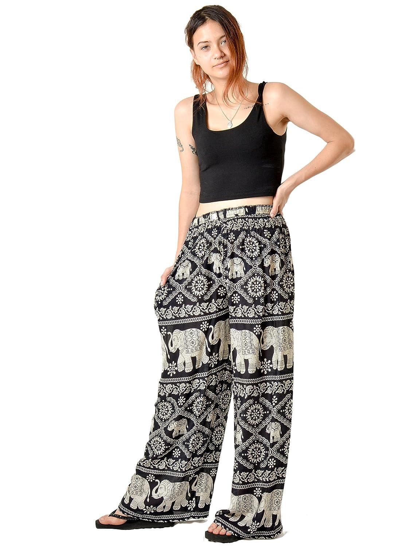 cb2b0dded Amazon.com: Orient Trail Women's Aztec Tribal Design Yoga Wide Leg Harem  Pants US Size 0-22: Clothing