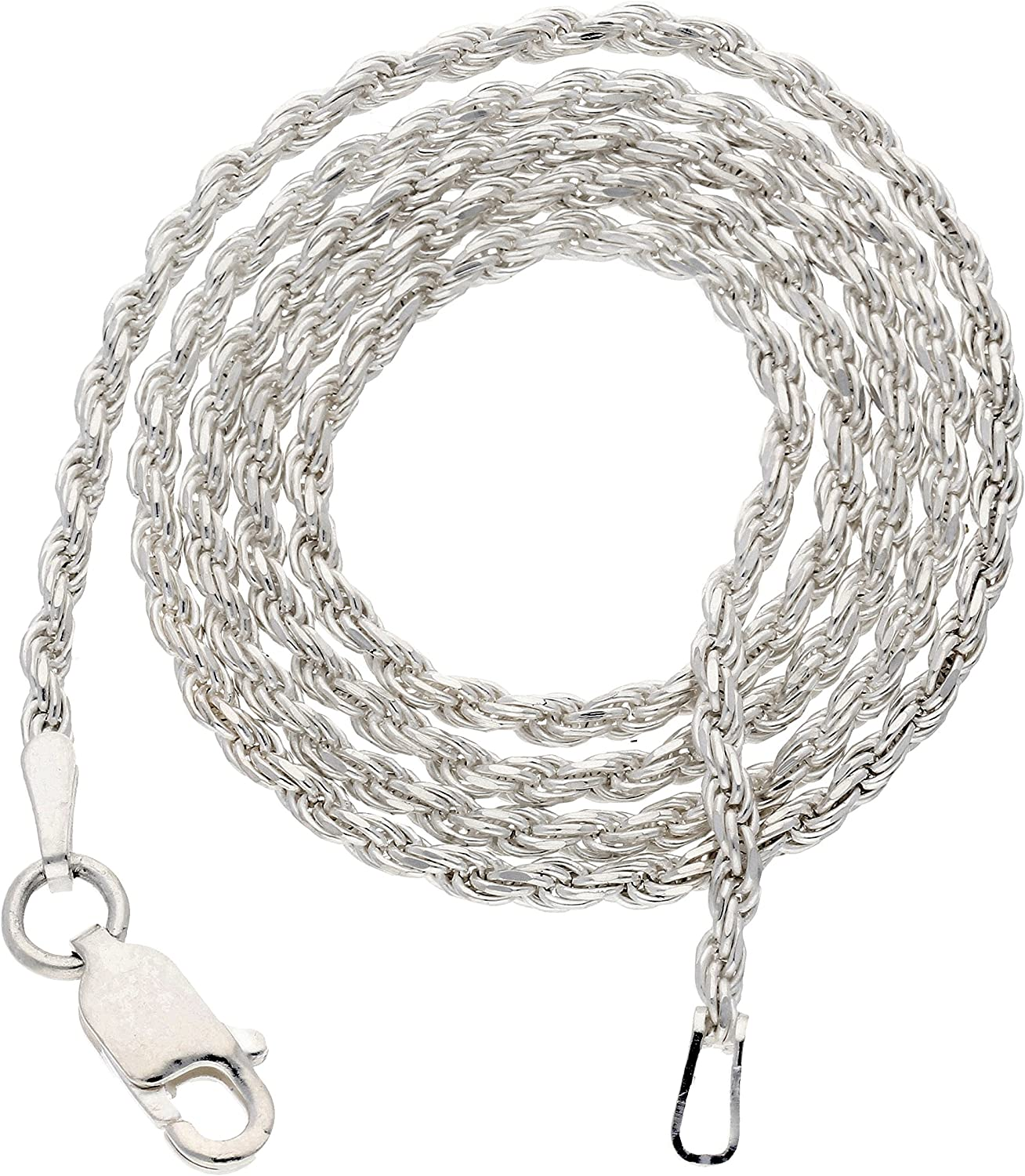 "B00023JPMO 2mm Sterling Silver Diamond-Cut Rope Chain Necklace(Lengths 14"",16"",18"",20"",22"",24"",26"",28"",30"",32"",34"",36"") 918N%2BilP1vL"