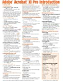 Adobe Acrobat XI Introduction Quick Reference Guide (Cheat Sheet of Instructions, Tips & Shortcuts - Laminated Card)