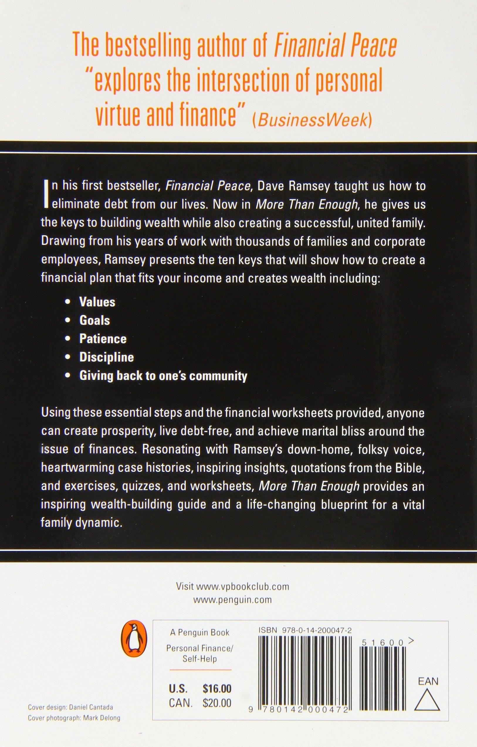 Amazon more than enough the ten keys to changing your amazon more than enough the ten keys to changing your financial destiny dave ramsey livres malvernweather Gallery