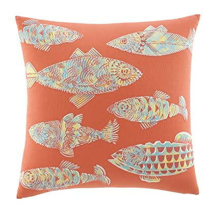 Amazon Tommy Bahama 40 Batic Fish Decorative Pillow Multi Stunning Orange And Teal Decorative Pillows