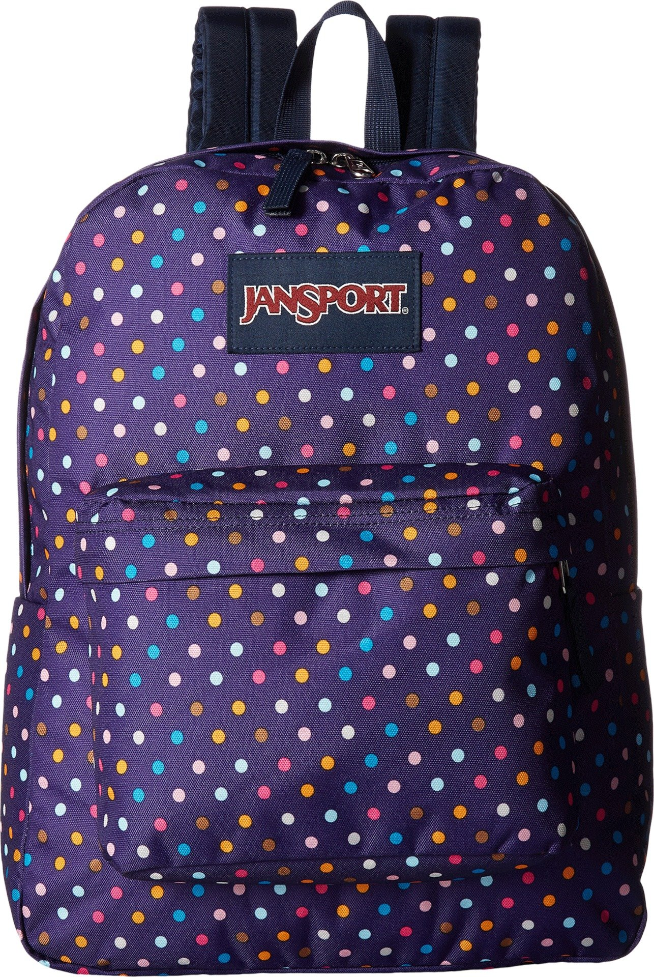 JanSport Unisex SuperBreak Purple Spot-O-Rama Backpack