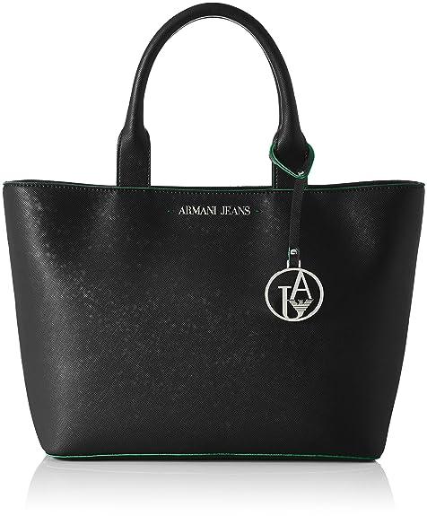 b2a9328fb9 Armani Jeans Borsa Shopping - Borse a secchiello Donna, Grün (Catfish Dark  Green)