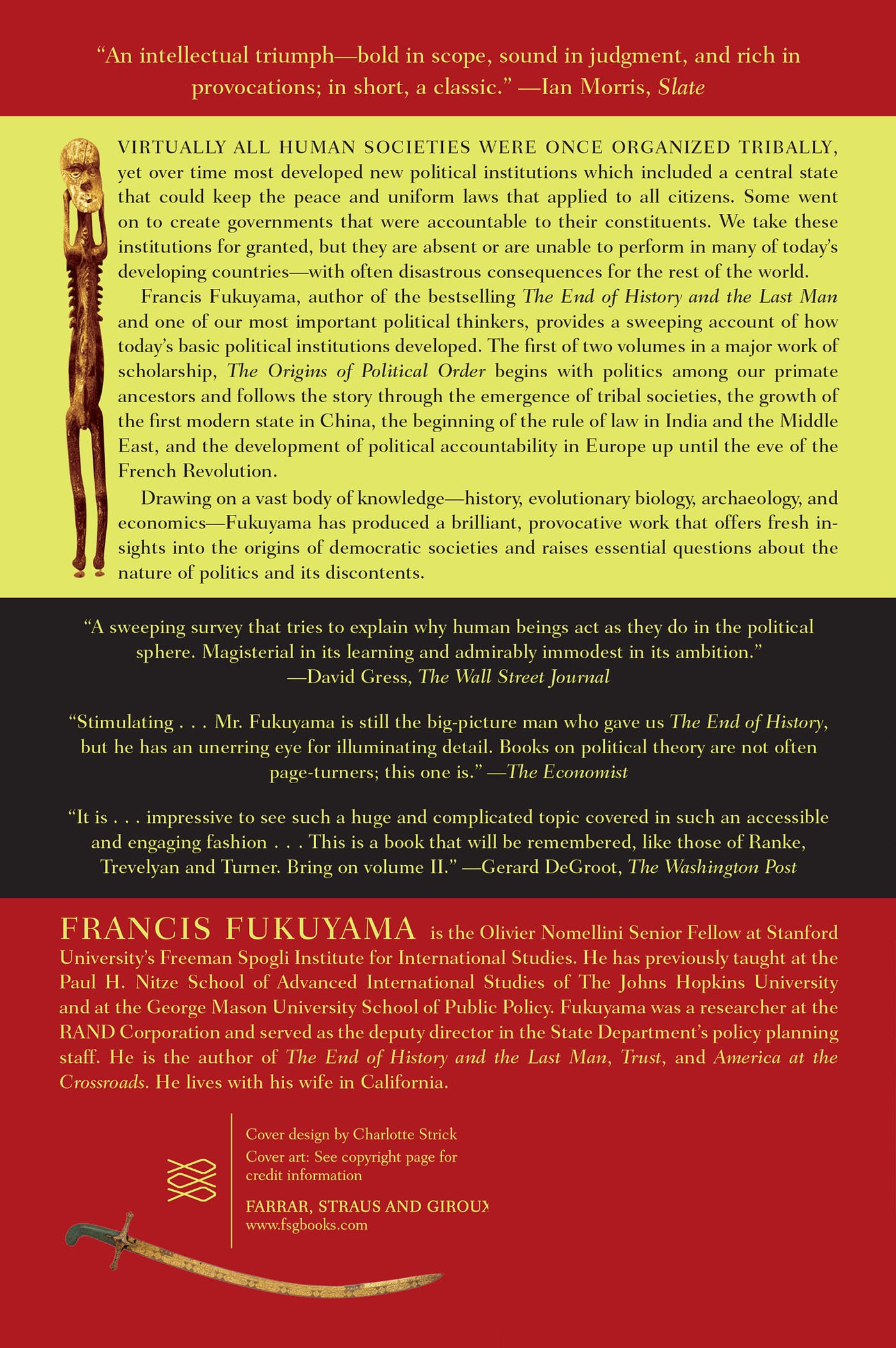 The Origins of Political Order: From Prehuman Times to the French  Revolution: Francis Fukuyama: 9780374533229: Amazon.com: Books